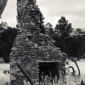 old fireplace built in stone