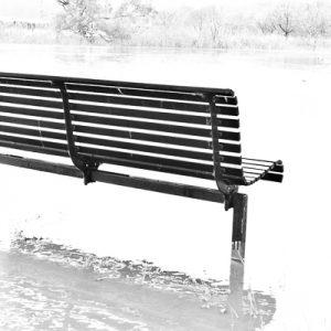 Slated park seat
