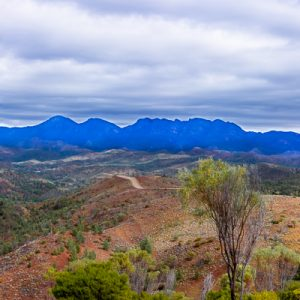 dark stormy sky flinders ranges
