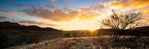 Golden,yellow sunset chambers gorge