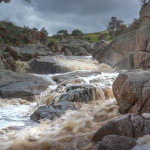 Mannum Waterfall in flood recent rains